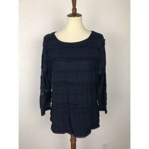 White House Black Market Tiered Knit Top